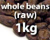 Whole cocoa beans - (raw) - 1kg